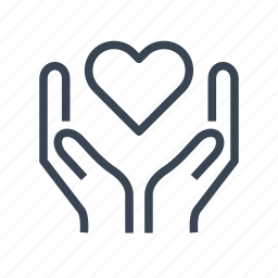 give, hands, heart, love, share icon