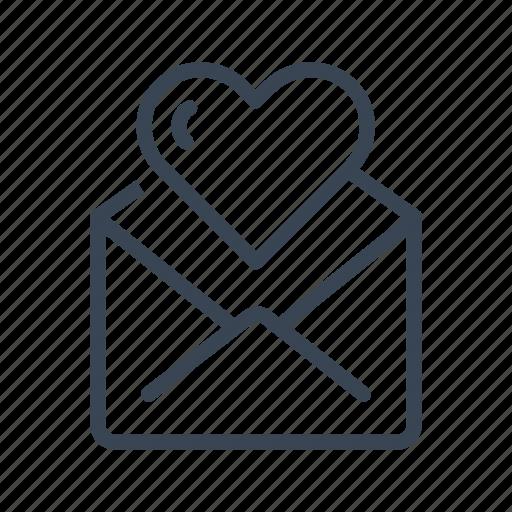 invitation, letter, love, note icon