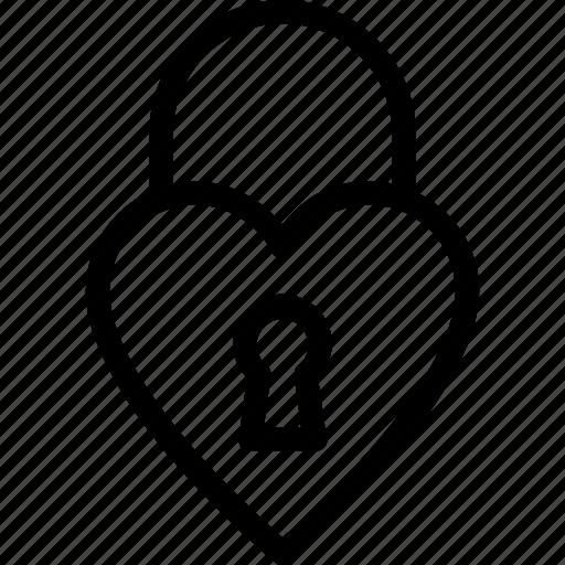 heart lock, lock, padlock, privacy, secret icon
