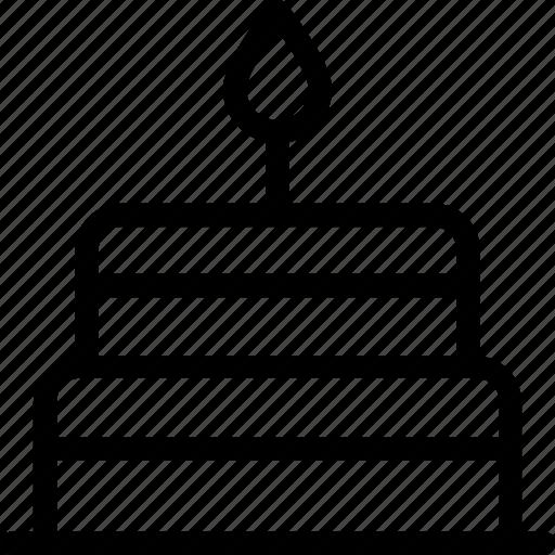 birthday cake, cake, candle, celebration, valentine cake icon