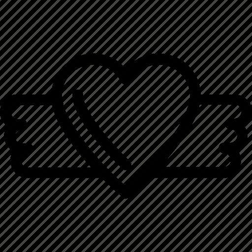 heart, heart badge, insignia, love badge, sticker icon