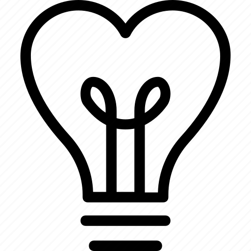 bulb  electricity  heart  heart bulb  lightbulb icon