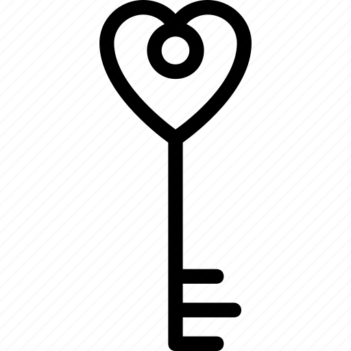 heart key, key to heart, privacy, secret feeling, security icon