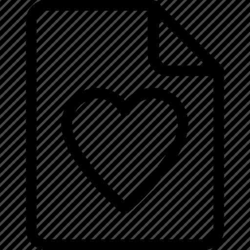 favorite file, file, heartfile, love letter, loving icon