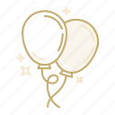 balloon, celebration, decoration, festival, holiday, party icon