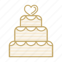 cake, dessert, heart, love, marriage, wedding icon