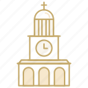 building, church, clock, marriage, wedding icon