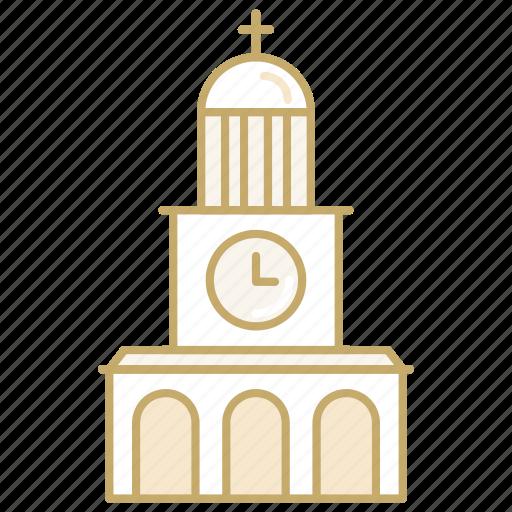 building, church, clock, marriage, wedding icon