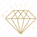 diamond, gem, jewelry, present, value icon