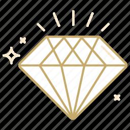 diamond, gem, jewelry, present, value icon