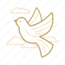 bird, cloud, dove, love, wedding icon