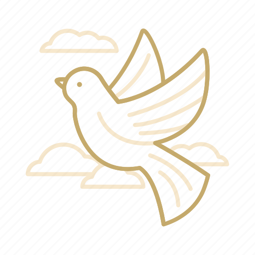 bird, cloud, dove, love, wedding icon