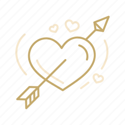 arrow, celebration, heart, love, valentine, wedding icon
