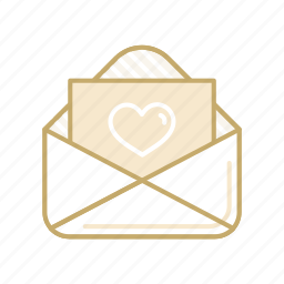 card, envelope, greeting, letter, love, mail, valentine icon