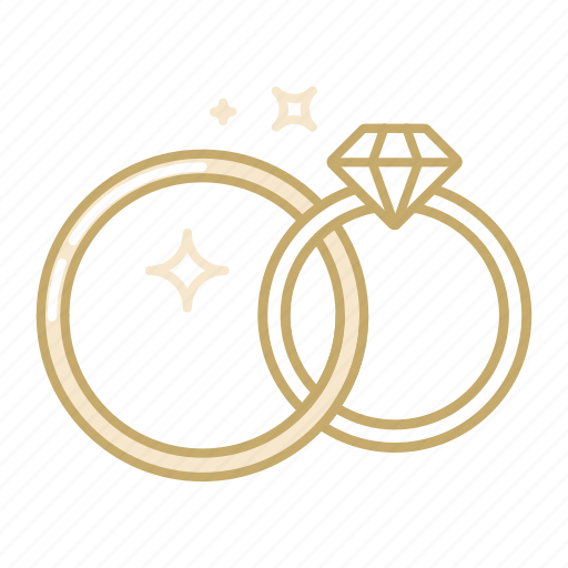 couple, gem, jewelry, marriage, ring, wedding icon