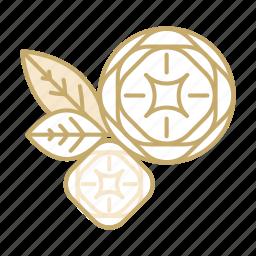 decoration, flower, leaf, rose, wedding icon