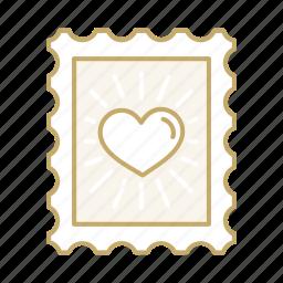 decoration, heart, love, stamp, valentine, wedding icon