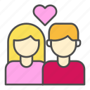 couple, heart, love, pair, wedding icon