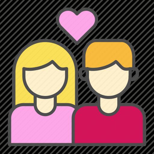 couple, heart, love, pair, wedding icon