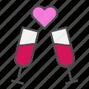 diner, heart, love, valentine, valentines day icon