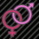 gender, heart, love, valentine, valentines day icon
