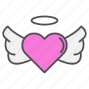 angel, heart, love, valentine, valentines day icon
