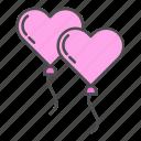 balloon, heart, love, valentine, valentines day icon
