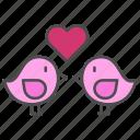 bird, heart, love, valentine, valentines day icon