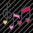 heart, love, music, valentine, valentines day icon