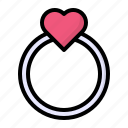 heart, jewelry, love, ring, wedding icon
