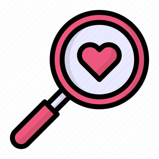 Glass, heart, love, magnifying, search icon - Download on Iconfinder