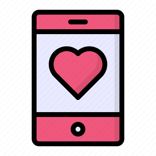 Heart, like, love, mobile, smartphone icon - Download on Iconfinder