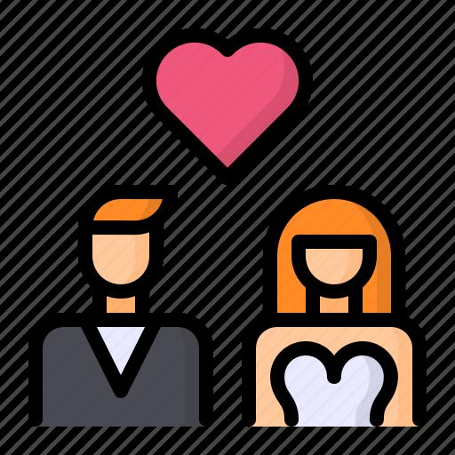 Bride, couple, groom, marriage, wedding icon - Download on Iconfinder