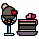 love, valentine, heart, icecream, cake, cafe