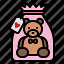 love, valentine, heart, teddy, bear, gift
