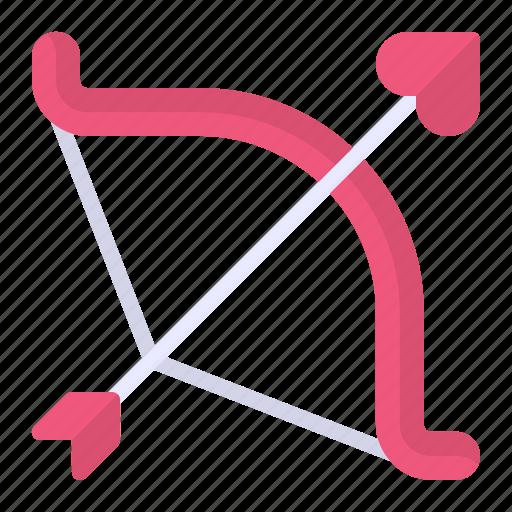 arrow, bow, cupid, heart, love icon