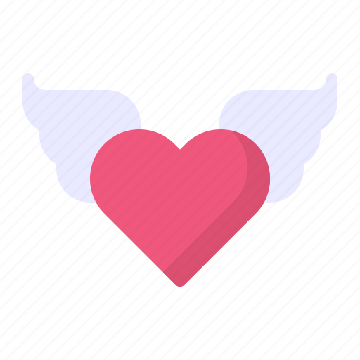 Angel, heart, love, romance, wing icon - Download on Iconfinder