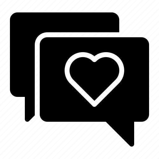 bubble, chat, heart, love, message icon