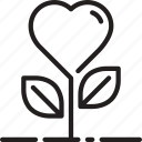 flower, heart, love icon