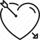 arrow, heart, love, marriage icon