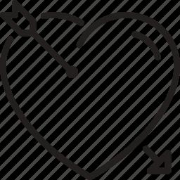 arrow, heart, love, marriage icon