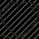 bite, heart, love, marriage icon