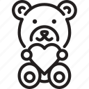 bear, gift, love, present, teddy bear icon