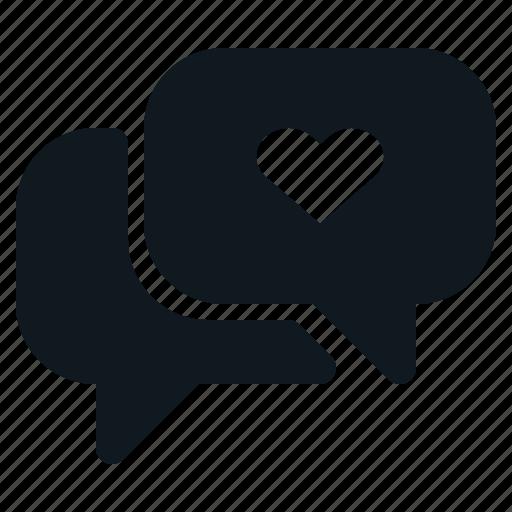 Chat, heart, love, speaking, valentine icon - Download on Iconfinder