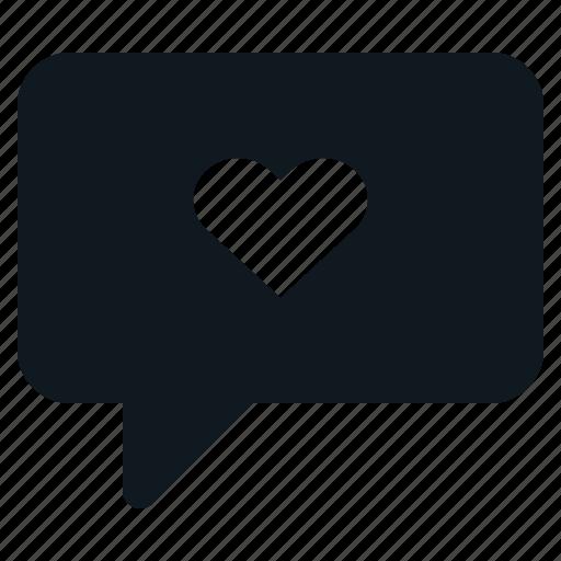 Heart, love, message, speak, valentine icon - Download on Iconfinder