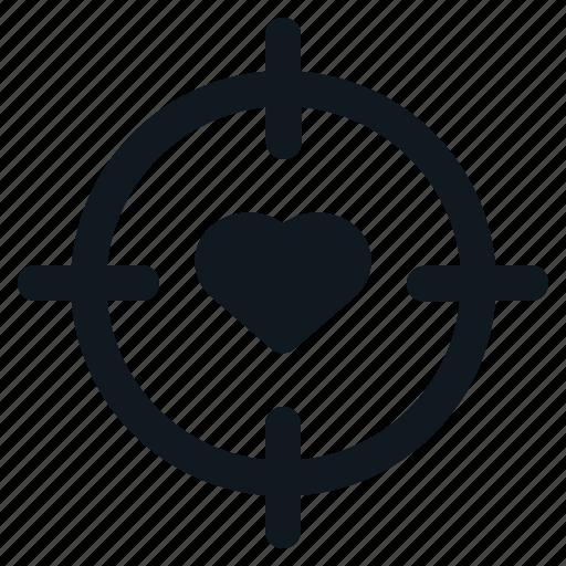Goal, heart, love, target, valentine icon - Download on Iconfinder