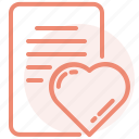 heart, letter, love, message, romance, valentines, wedding icon