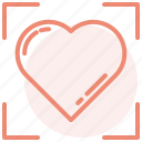 day, heart, love, romance, target, valentines, wedding icon