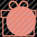 box, gift, heart, love, romance, valentines, wedding icon