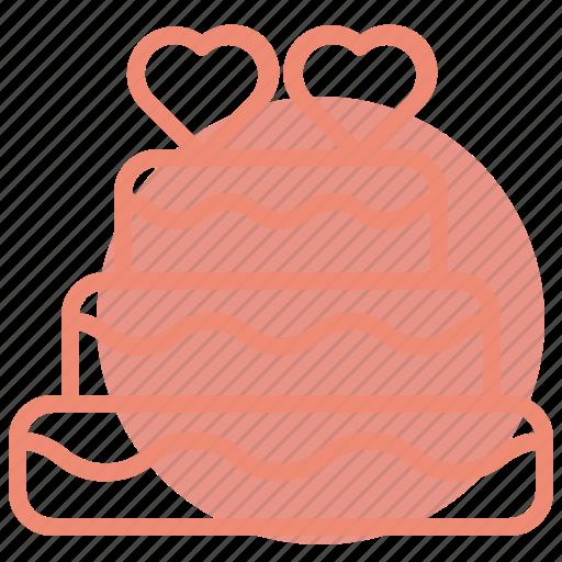 birthday, cake, heart, love, romance, valentines, wedding icon